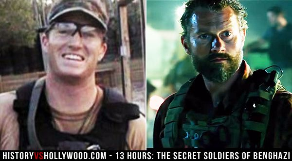 Tyrone 'Rone' Woods and his onscreen counterpart James Badge Dale in '13 Hours: The Secret Soldiers of Benghazi.' Read '13 Hours: History vs. Hollywood' http://www.historyvshollywood.com/reelfaces/13-hours/