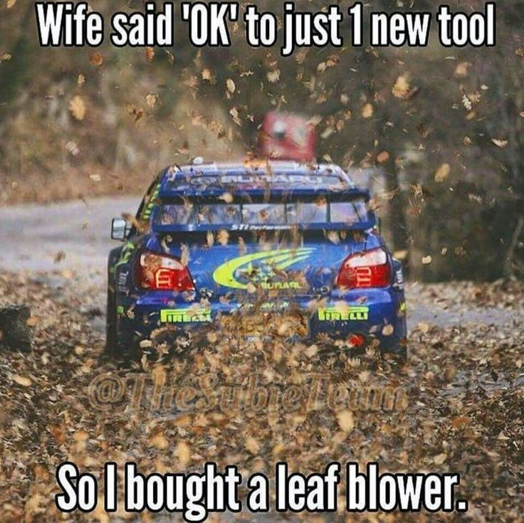 Subaru Impreza / Wife said ok to just 1 new tool, so I bought a leaf blower