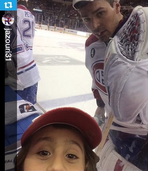 canadiensmtl The famous #habsfie from @jazouri31 with @cp0031