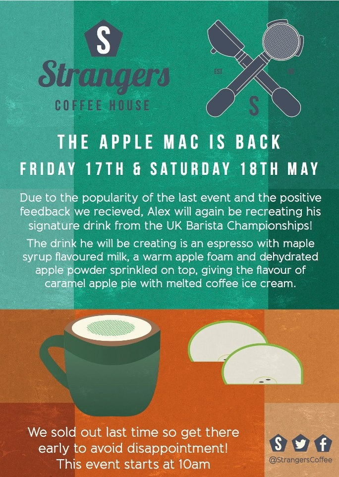 Strangers Coffee House - Apple Mac Event 17/18th May 13