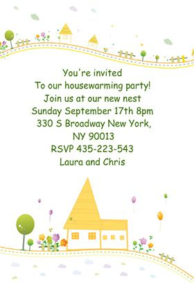 Housewarming party printable invitation customize add for Housewarming party message