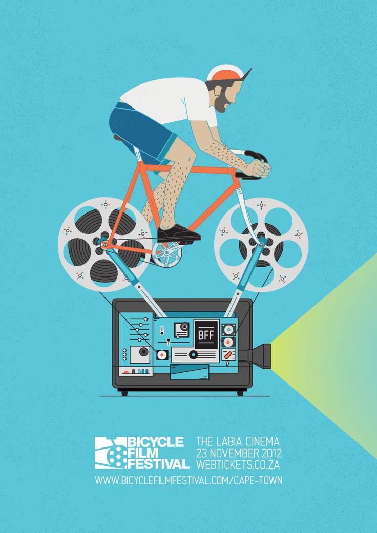 Bicycle Film Festival Poster 2012 on Behance