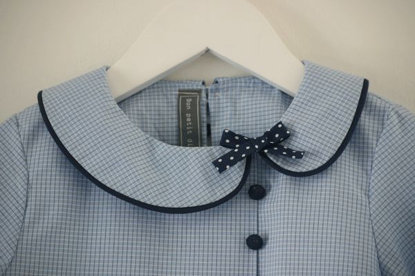 Sweet asymmetrical Peter Pan collar with a bow l Clever Charlotte Chickadee Blouse?