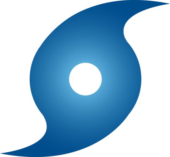 hurricane | Blue Hurricane Weather Symbol - Free Clip Art
