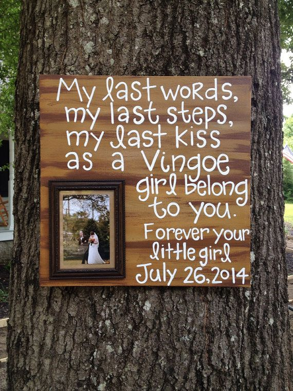 Father of the Bride Gift Idea by jgcreationsbyjg on Etsy, $35.00
