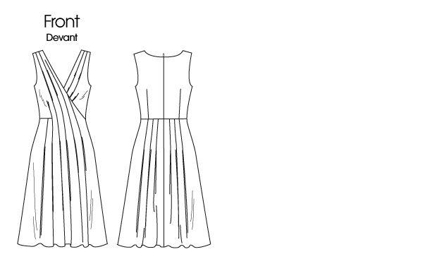 V1223 | Misses' Dress | Anne Klein | Vogue Patterns
