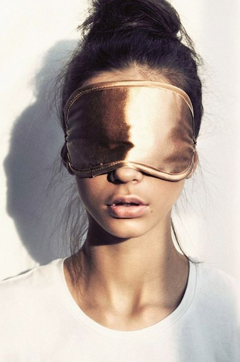 Silk/satin sleep mask. Cute and functional!