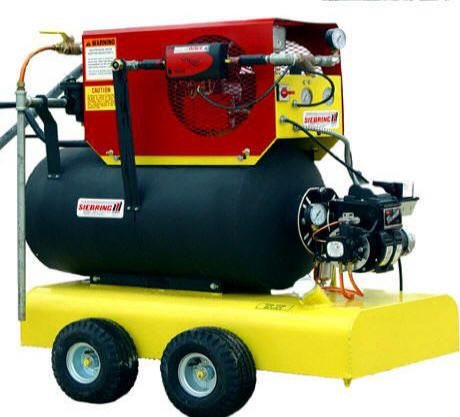 The Steam 'N Air Soil Sterilization System is a new innovation, The Steam 'N Air is basically the combination of three separate portable components — the SG10 Steam Generator, the AB28 Aeration Blower, and the optional Tow 'N Dump Aeration Cart. Once attached together, they take on the job of sterilizing potting soil and other materials.  Since these are components, the customer has the option to buy any combination of components to meet their specific needs. Call 800-531-GROW to order.