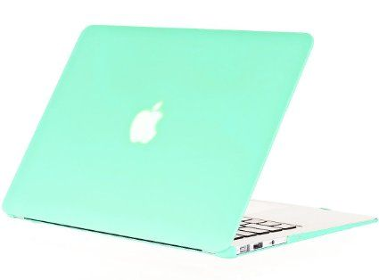 """Kuzy - AIR 13-inch MINT GREEN Rubberized Hard Case for MacBook Air 13.3"""" (A1466 & A1369) (NEWEST VERSION) Shell Cover - Mint Green"""
