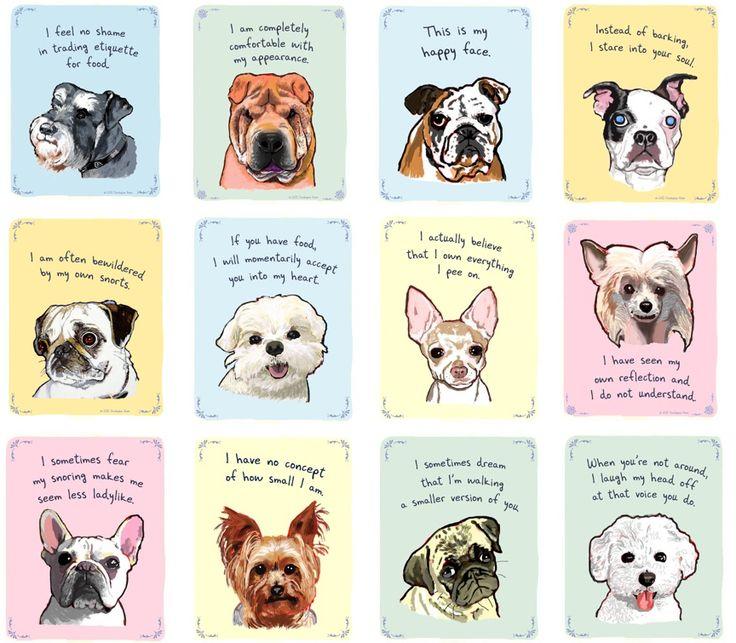 """Hundekunst von """"Chistopher Rozzi Tiny Confessions Dogs"""" mehr dazu in unserem Hundeblog unter http://www.diehundewiese.de/hundelifestyle/kunst-mit-hunden-humorvolle-illustrationen-von-christopher-rozzi/ hund hunde dog dogs"""