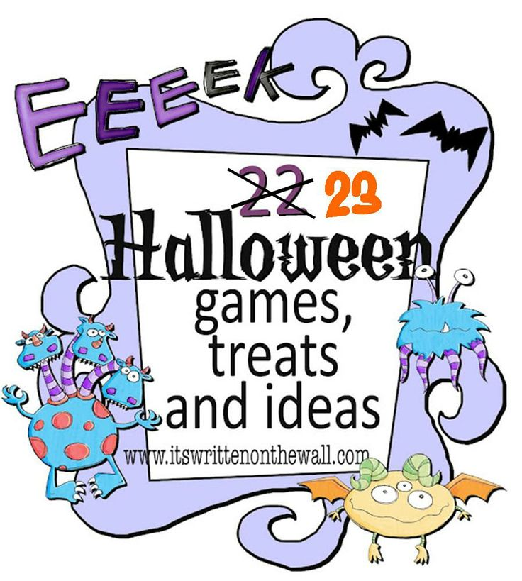 It's Written on the Wall: 23 Fun Halloween Games, Treats and Ideas for your Halloween Party: 22 Fun, Halloween Parties, Fall Parties, Halloween Games, Parties Ideas, 23 Fun, Fun Halloween, Halloween Ideas, Parties Games