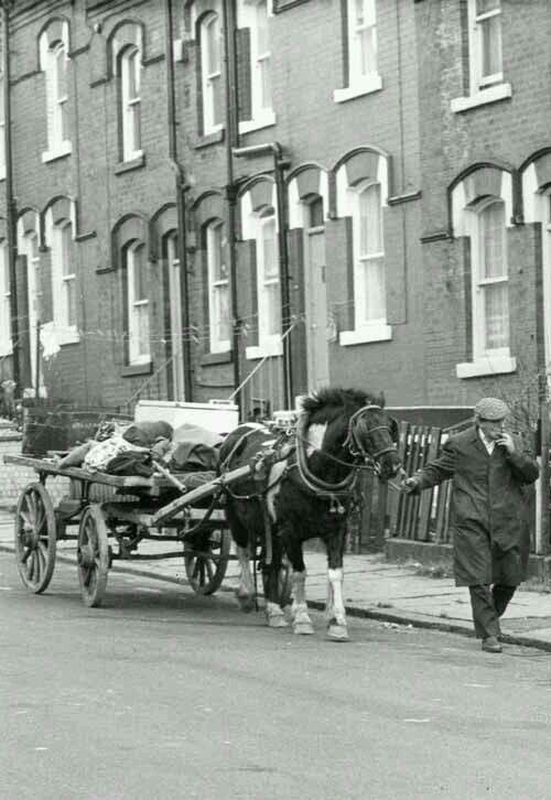 """""""The Rag and Bone man"""" is a British phrase for a junk dealer. Historically the phrase referred to an individual who would travel the streets of a city with a horse-drawn cart, and would collect old rags (for converting into fabric and paper), bones for making glue, scrap iron and other items, often trading them for other items of limited value."""
