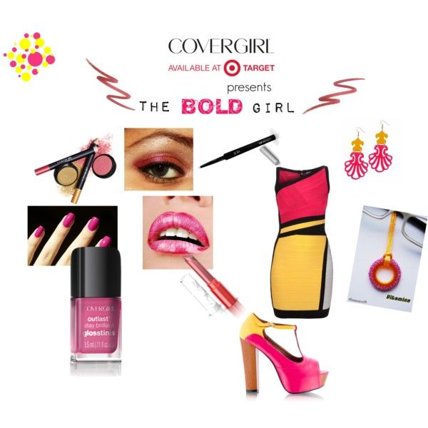 """""""Fuchsia+yellow=BOLD!"""" #look by occhiondolo on #Polyvore"""