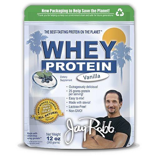 THE BEST-TASTING PROTEIN ON THE PLANET™</li></ul><br><br><ul><li>Outrageously delicious!</li><li>25 grams protein per serving!</li><li>Easy to mix!</li><li>Made with stevia!</li></ul>Award-Winning Formula-100% Whey Isolate*-All Natural-Fat Free<br><br>Jay Robb Whey Protein contains NONE of the following ingredients:<ul><li>NO MSG</li&g...