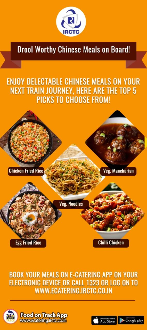 Is Chinese Your Favorite Now You Can Enjoy Delicious Chinese Meals While You Travel To Your Most Loved Destination On The I Order Food Online Order Food Train
