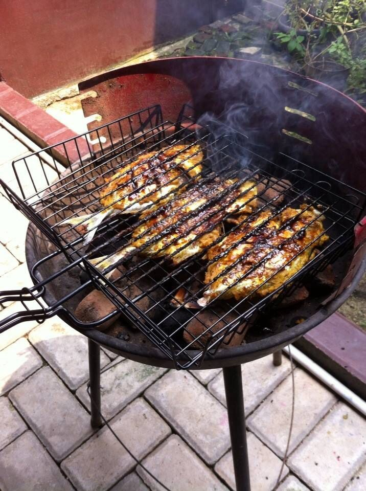 Grilled Yellow Fish Tail