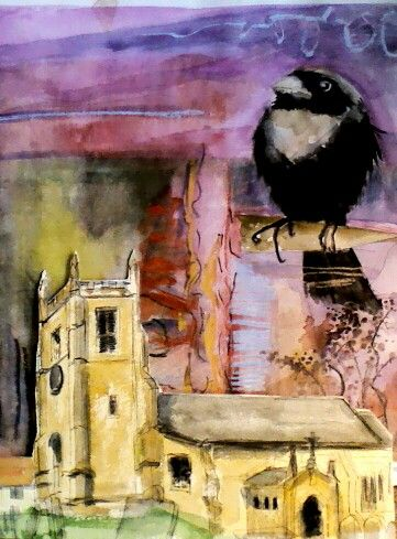 Church and crow.