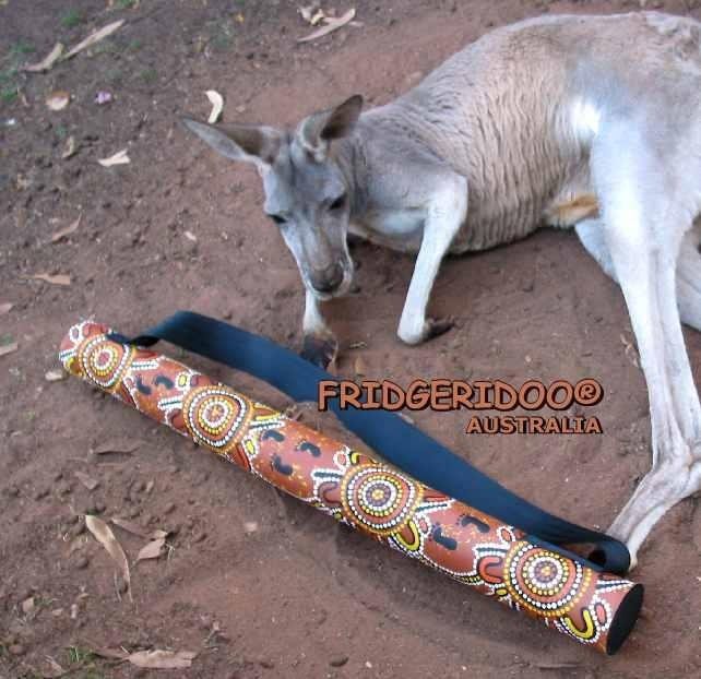 A Fridgeridoo looks like a didgeridoo and keeps your drinks cold www.fridgeridoo.com.au