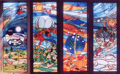 17 meilleures images propos de vitrail paysages sur for Miroir vitrail modeles