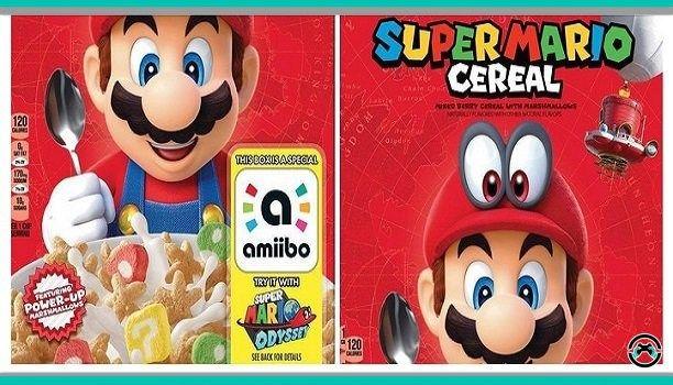 El 11 de diciembre llega a Estados Unidos los cereales de Super Mario. Empezó siendo un mero rumor y al final se ha hecho realidad. Próximamente todos podréis disfrutar de Mario en otra dimensión.  Ya es oficial.Nintendo y Kelloggs anunciaron el estreno de los cereales de Super Mario. Será edición limitada con un empaquetado especial funciones amiibo y los conocidos pasatiempos que solemos ver detrás de la caja.  Hará que os sumerjáis en las aventuras deSuper Mario Odyssey el último juego…