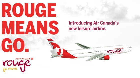 """Air Canada Introduces """"Rouge"""" Go More Campaign 