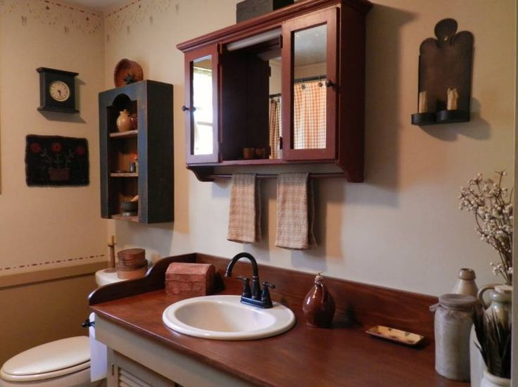 Country Bathroom Decor: 72 Best Primitive Bathrooms Images On Pinterest