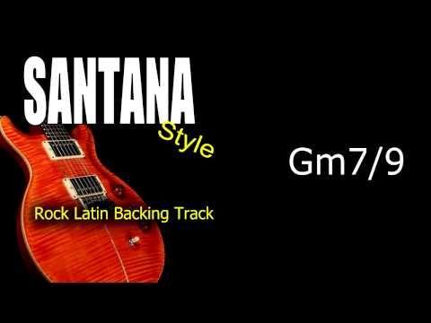 Rock Latin Santana Style Guitar Backing Track 121 Bpm Highest Quality - YouTube