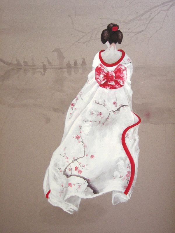 SAYURI 2011 watercolour on paper, 50x70 cm