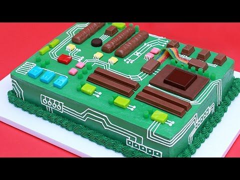 HOW TO MAKE A MOTHERBOARD CAKE - NERDY NUMMIES - YouTube ***** Video recipe only, good & complete information. JCN