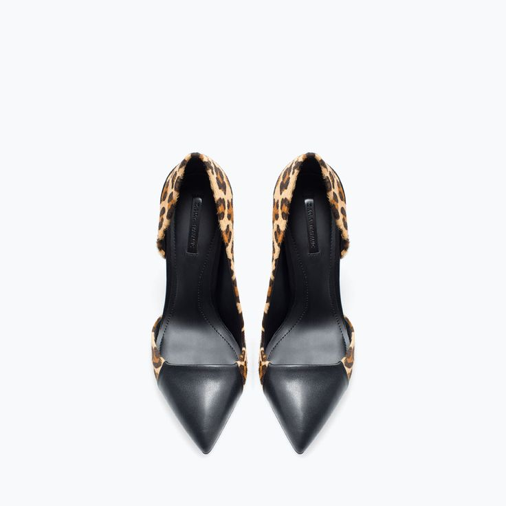 Image 4 of PRINTED LEATHER COURT SHOE from Zara