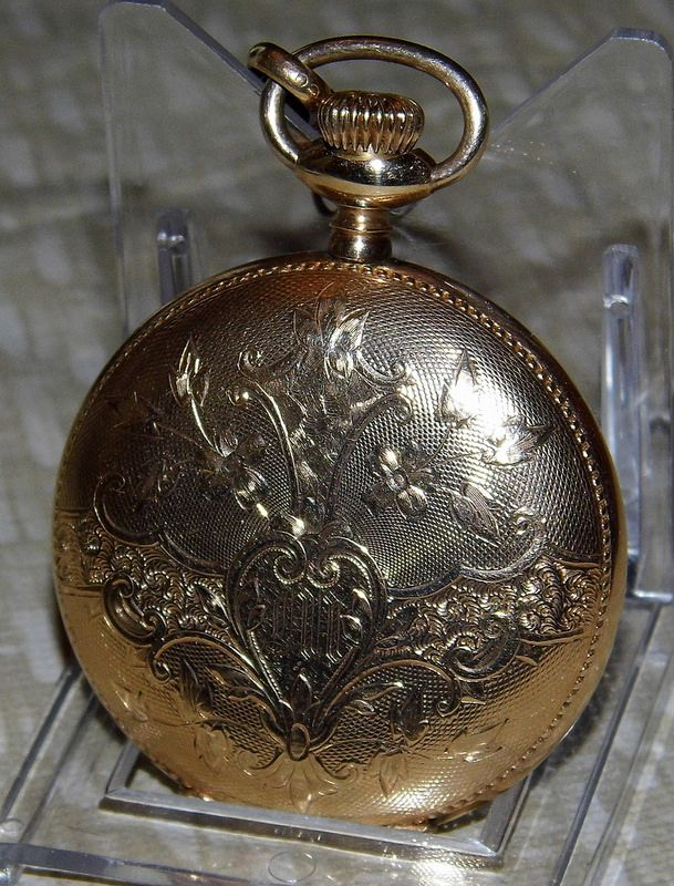 how to tell if elgin pocket watch is gold