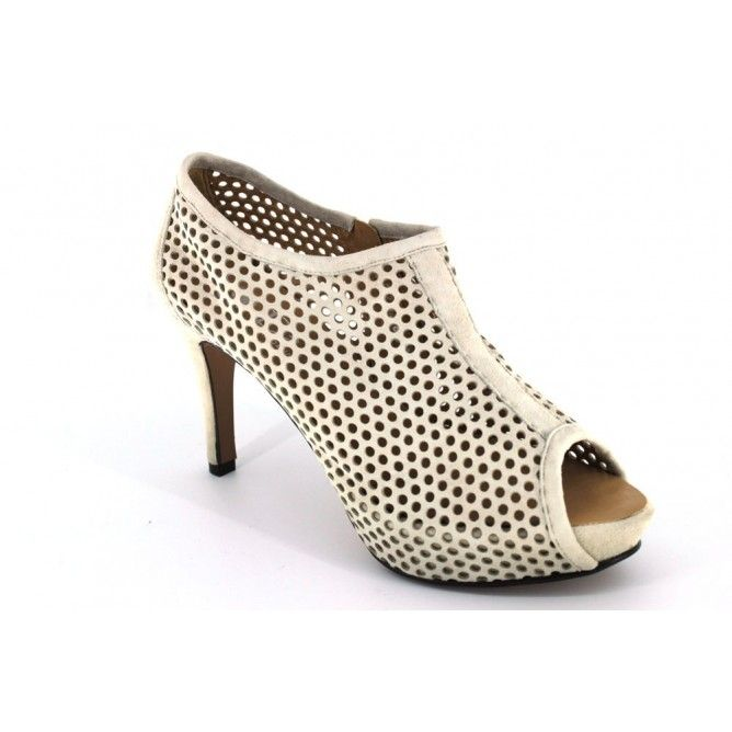 Dansi 202958 Zapatos Abotinados Mujer Vestir Beige