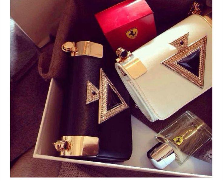 Hot new Fashion female Women's PU leather Diamonds Chains handbags Messenger Bags Mini Shoulder evening Bags women Day clutch € 24,40