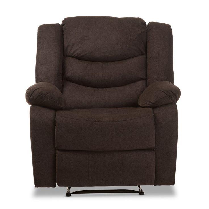 Baxton Studio Lynette Modern/Contemporary Fabric Power Recliner Chair Goa Brown - U1294X-GODIVA  sc 1 st  Pinterest & Best 25+ Power recliner chairs ideas on Pinterest | Recliners ... islam-shia.org