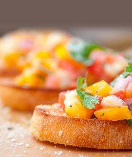 ✓ Torani Sugar-Free Syrup Tomato Salsa: 2 c seeded and diced Roma TOMATOES • ½ c diced red ONION • ¼ c Torani LIME SF SYRUP • ¼ c chopped CILANTRO • 1 T. LEMON JUICE • 1 JALAPENO PEPPER, finely minced • 1 small clove GARLIC, minced • ½ tsp SALT (Start with ½ tsp of the lime syrup, taste and adjust to your liking.  ¼ c is really sweet.)
