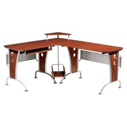 Find desks at Target.com! This contemporary computer workstation is made of steel in laminate mahogany finish. The frame has a sturdy platform base. Assembly is required. More Details