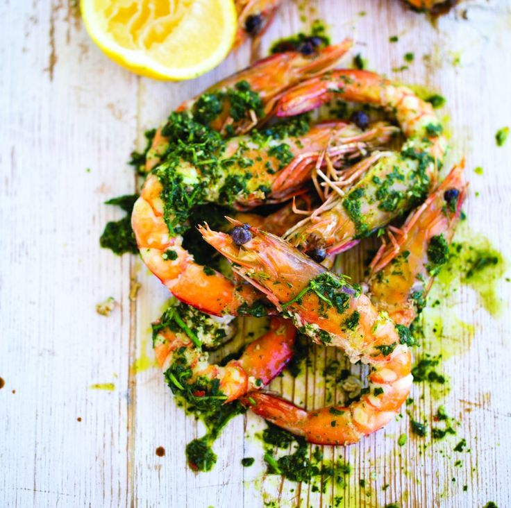 Grilled Chimichurri Prawns with Bondi Harvest