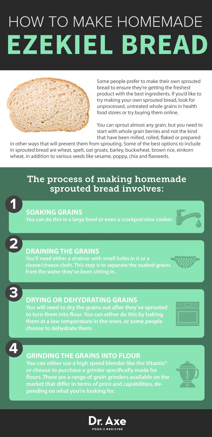 How to make homemade Ezekiel bread  http://www.draxe.com #health #holistic #natural