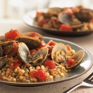Sardinian Fregolawith Clams and Tomatoes