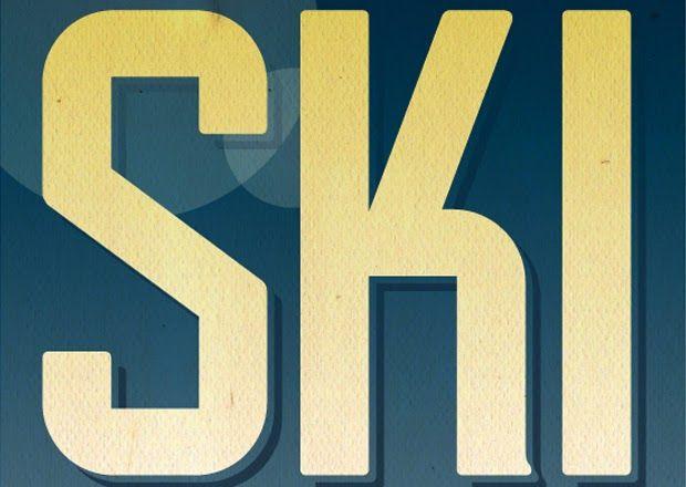 Crie um poster de esqui no estilo vintage ~ De volta ao retrô