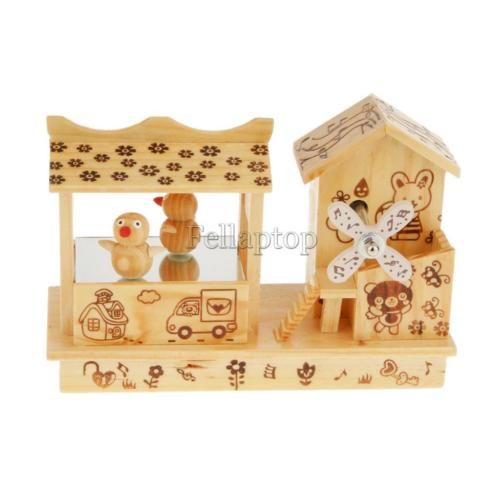 Cute wooden #music box with dancing penguin home #decor kids #present craft,  View more on the LINK: http://www.zeppy.io/product/gb/2/152346321988/