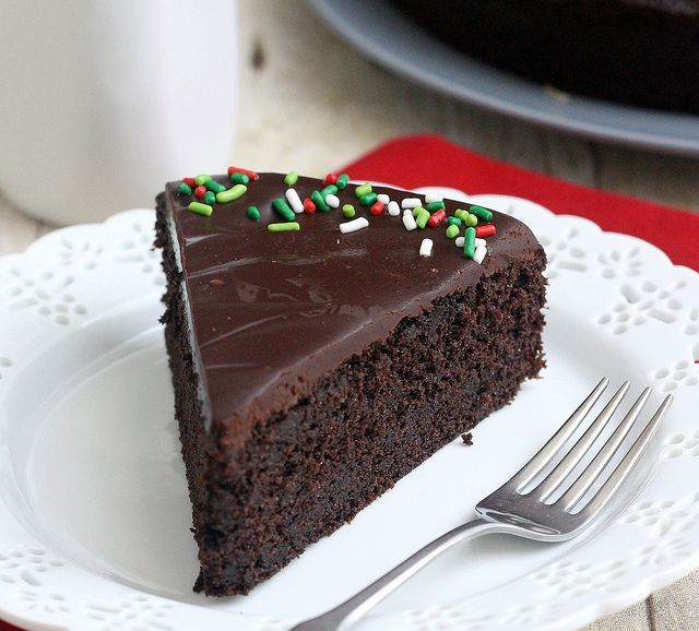 Easy Glazed Chocolate Cake by Tracey's Culinary Adventures, via Flickr