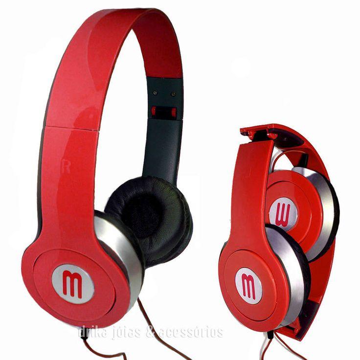Headphone MasterSom HD Neymar Cor Vermelho HD - Drika Jóias & Acessórios