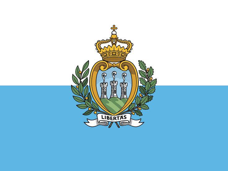 Flag of San Marino - Galeria de bandeiras nacionais – Wikipédia, a enciclopédia livre