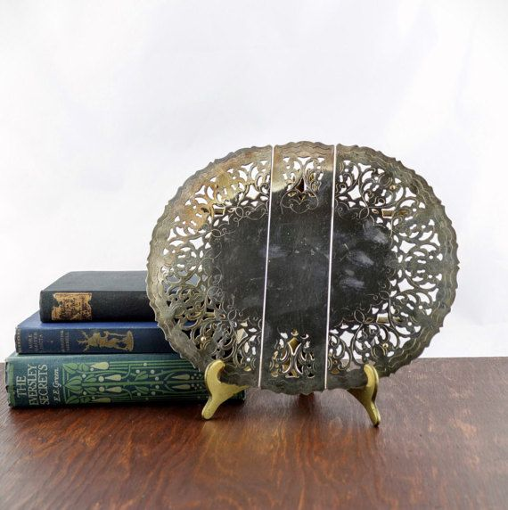 Vintage Silver Plated Italian Trivet  by LoAndCoVintage on Etsy