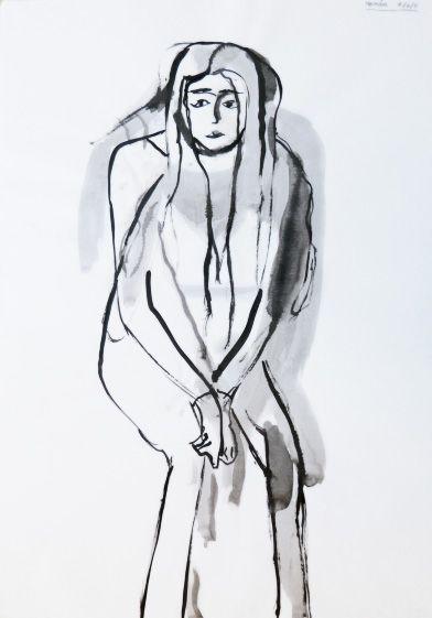 Hernâni Freitas : Tinta-da-china s/ papel, 594 x 420 mm