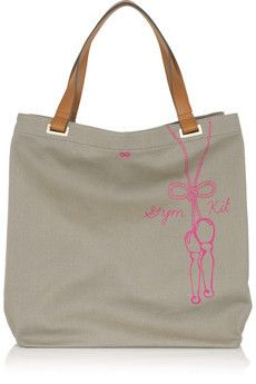 Gym Kit Canvas Tote BY ANYA HINDMARCH