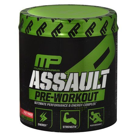 MusclePharm Assault Pre-Workout Powder 30 Servings Fruit Punch - 12.8 oz.