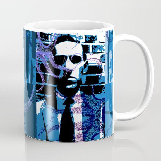 Lovecraft Mug by Scar Design   #mug #coffeemug #lovecraftcoffeemug #sciencefictionhorror #horror #giftsforhim #gifts  #Lovecraft #LovecraftMug #buylovecraftgifts  #lovecraftgifts #cthulhu #buycthulhugifts #buylovecraftmug #Cthulhumug