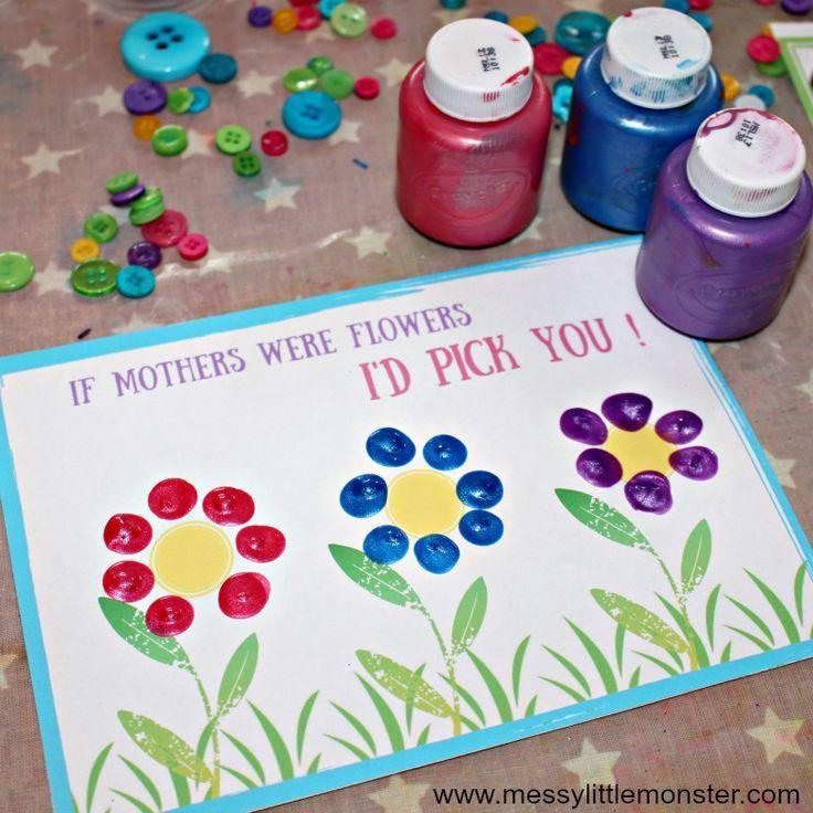 Mothers Day Card Printable A Fingerprint Keepsake For Mom Grandparents Day Crafts Diy Mother S Day Crafts Easy Mother S Day Crafts